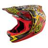 Troy Lee Designs D3 Helmet Mips Longshot Red